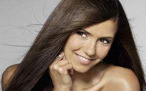 Picture smile, actress, Nina Dobrev, celebrity, smiling