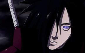 Picture look, anime, art, male, guy, Naruto, brunette, Madara Uchiha