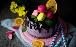 Wallpaper chocolate glaze, cake, sweet, pasta, dessert