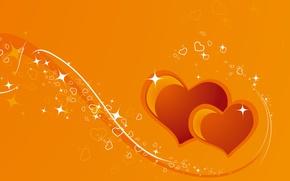 Wallpaper heart, postcard, vector, Valentine's Day