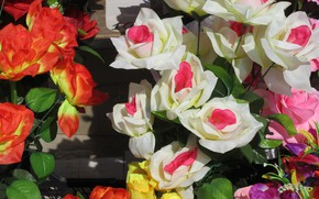 Picture roses, artificial flowers, spring 2018, Meduzanol ©