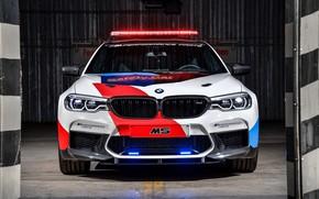 Wallpaper flashers, BMW M5, MotoGP, Safety Car