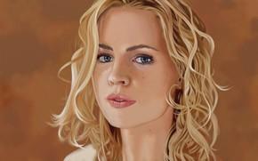 Picture girl, portrait, blonde