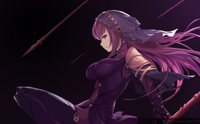 Picture girl, weapons, spear, Fate / Grand Order, The destiny of a great campaign