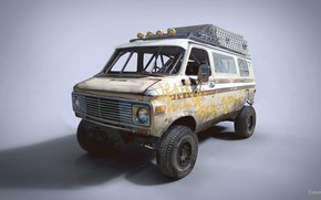 Wallpaper Racing Rat Van, car, Chevrolet G20