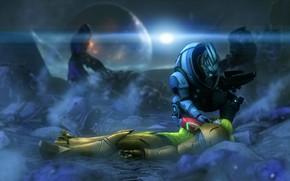 Picture mass effect, Garrus Vakarian, samus aran, zero suit, armor metroid, power suit