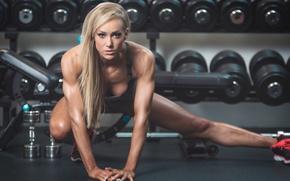 Wallpaper workout, look, model, blonde, fitness