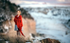 Picture nature, background, girl