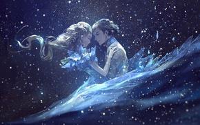 Picture love, lights, lights, long hair, art, Cinderella, Cinderella, Prince, AkaLilu