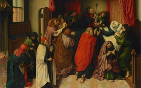 Picture tree, oil, picture, mythology, Master of the Amsterdam, Dood van Maria, Mary on her deathbed