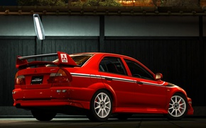 Picture Mitsubishi, Evolution, Back, TME, Evo 6