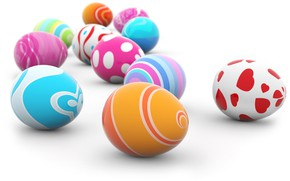 Picture rendering, eggs, Easter