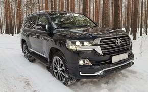 Picture Toyota, Land, Cruiser, winter voyage