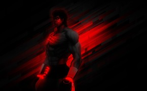 Picture fighter, Jock, boxer, Street Fighter 4, BossLogic, Fei Long's, black-red, feitron