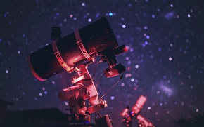 Wallpaper stars, the sky, background, telescope, the evening, macro