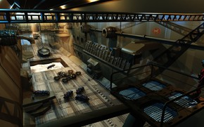 Picture hangar, Dock, equipment