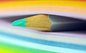 Picture colorful, pencil, sticky notes