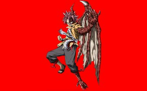 Picture game, anime, dragon, transformation, asian, manga, japanese, Fairy Tail, Natsu, oriental, asiatic, wing, horn, dragon …