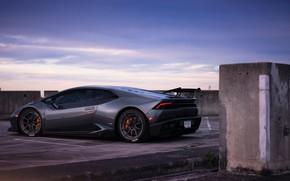 Picture the evening, Lamborghini, evening, Huracan, Lamborghini Huracan