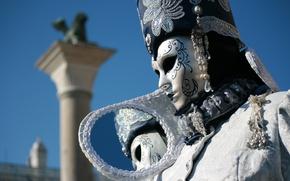 Picture Italy, style, photo, Venice, reflection, luxury, mask, Italia, Venice, costume, mirror, portrait, carnival, depth of …