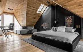 Wallpaper room, interior, bedroom, design