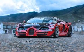 Picture Auto, Machine, Bugatti, Veyron, Bugatti Veyron, Design, Supercar, Rendering, ArtStation, Keser, Matija Keser, Keser Design
