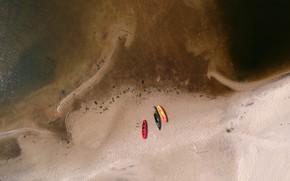 Picture sand, sea, boats