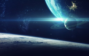 Wallpaper galaxy, sci fi, planet