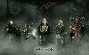 Picture art, fantasy, battle, RPG, Legend of the Cryptids, Meteor, Choi Yongjae