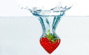 Picture strawberry, Splash, splash
