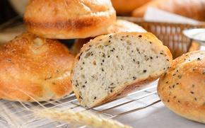 Picture bread, cakes, sesame