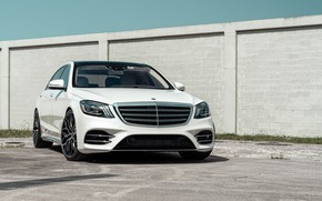 Picture Mercedes, White, S550, W222, Restyling