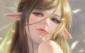 Picture girl, elf, art, elf, pai yu