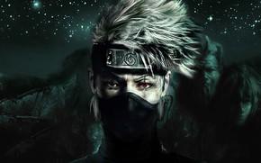 Picture Naruto, anime, sharingan, ninja, manga, shinobi, Kakashi, Naruto Shippuden, doujutsu, japonese, anian