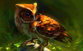 Picture owl, stone, by AlaxendrA