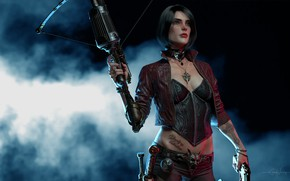 Wallpaper weapons, rendering, Anna Van Helsing, Vampire Hunter, background, hunter