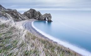 Picture sea, rocks, shore, Dorset, Door, Durdle