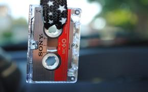 Wallpaper cassette, Sony, macro