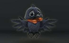 Picture baby, art, children's, the crow, Crow baby, Vitaliy Blik