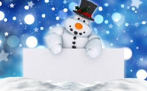 Picture New Year, Christmas, snowman, winter, snow, merry christmas, decoration, xmas, holiday celebration