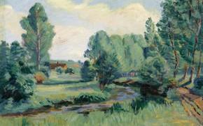 Picture landscape, picture, Arman Hyomin, Armand Guillaumin, Jouy-EN-JOSAS