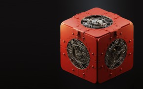 Picture mechanism, art, cube, box, Maxim Goudin