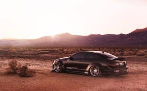 Picture black, desert, Mercedes, car