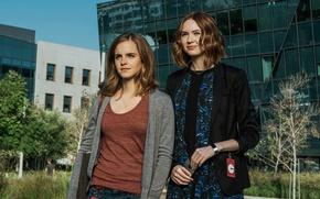 Picture fiction, girls, frame, Emma Watson, Emma Watson, Sphere, Thriller, Karen Gillan, Karen Gillan, The Circle