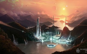 Picture facilities, the fjord, Star Citizen, Goss II Approach