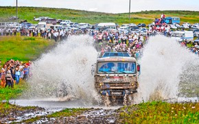 Picture Water, Grass, Sport, Speed, People, Race, Master, Dirt, Machine, Squirt, Russia, Kamaz, Rally, Rally, The …