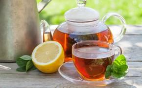 Picture Lemon, Mint, Black tea