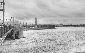 Picture Cloudy, Frozen Neva, Spb