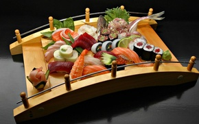 Picture fish, figure, sushi, rolls, salmon
