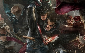 Picture game, Superman, Catwoman, Flash, The Flash, Injustice 2